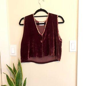 Velvet Crop Vest